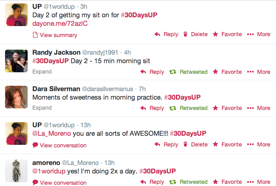 #30DaysUP tweets